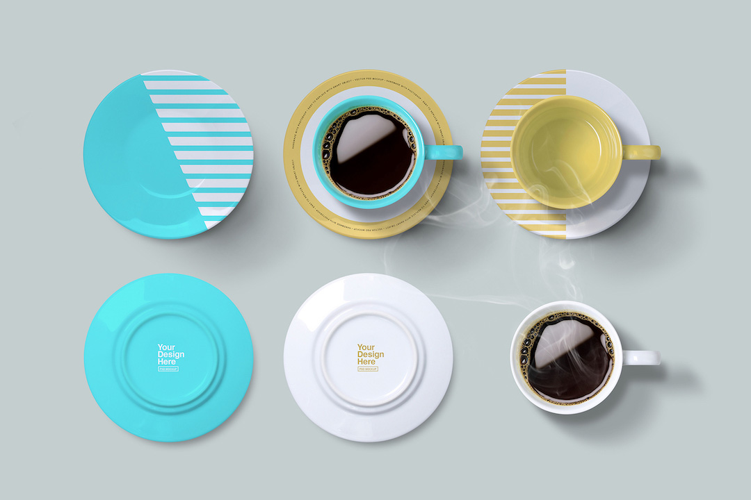 Coffee Cup With Saucer Mockup Avelina Studio