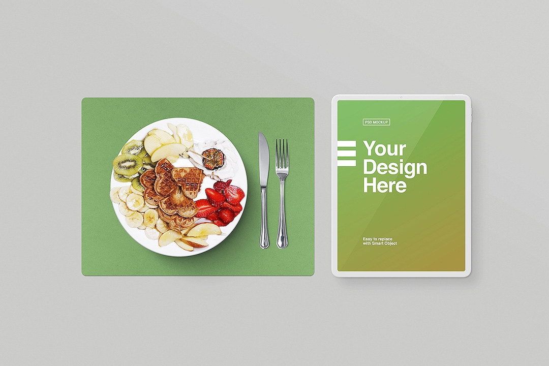 dinner-plate-and-white-tablet-mockup-avelina-studio-easybrandz-1