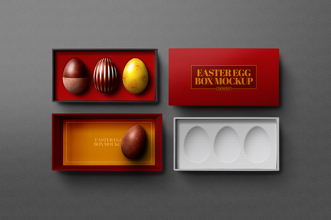 Easter Egg Box Mockup Avelina Studio