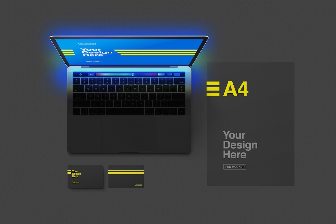 laptop-with-black-stationery-mockup-avelina-studio-easybrandz-1
