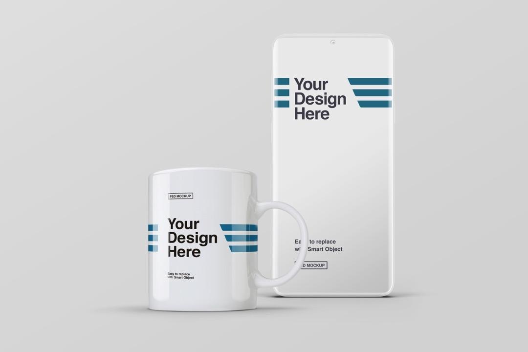 smartphone-and-white-mug-mockup-avelina-studio-mrh-1