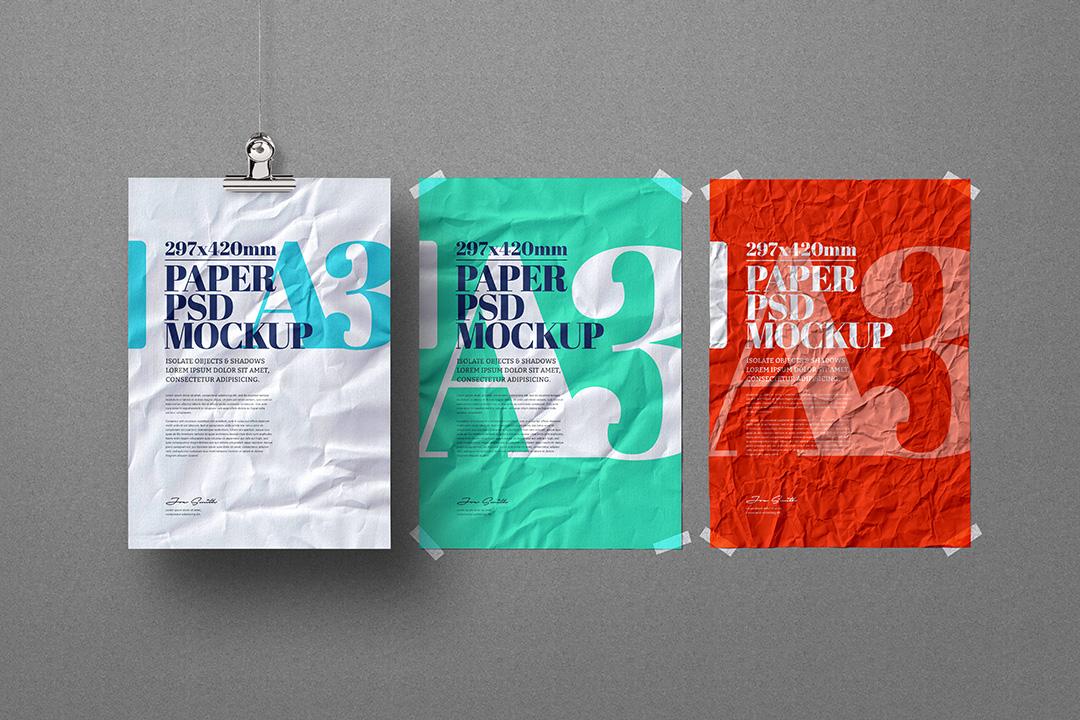 a3-flyer-poster-mockup-crumpled-hanging-adhesive-duct-strip-scene-1-avelina-studio-1