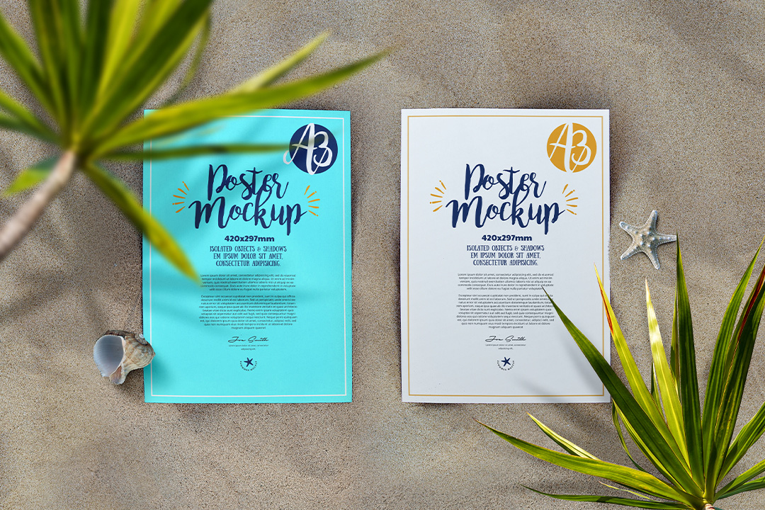 a3-poster-mockup-beach-sea-sand-nature-top-view-avelina-studio-1