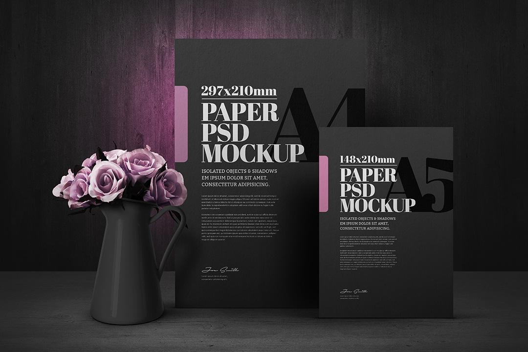 a4-a5-flyer-mockup-vase-flowers-black-scene-avelina-studio-1