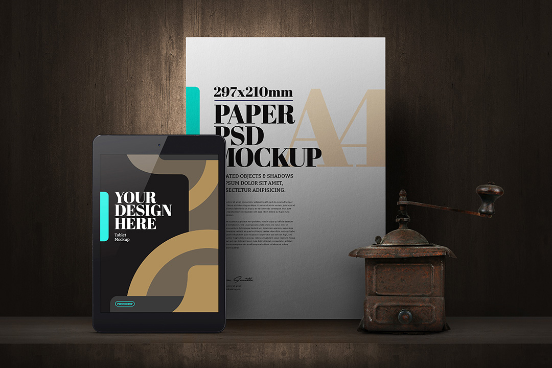 a4-flyer-mockup-tablet-coffee-grinder-scene-avelina-studio-1