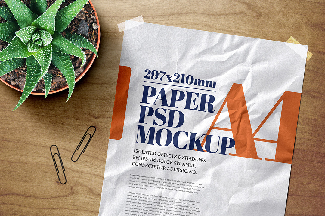 a4-flyer-poster-mockup-crumpled-adhesive-duct-strip-scene-2-avelina-studio-1